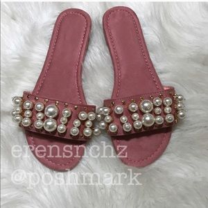 Shoes - Embellished slide in PINK! Sandal